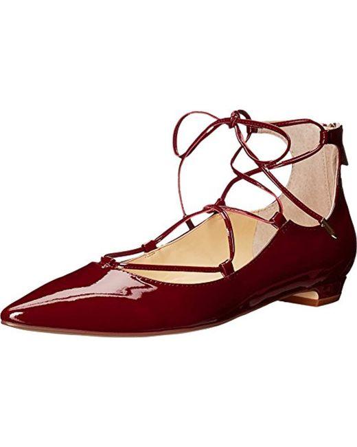 Ivanka Trump - Red Tropica Ballet Flat - Lyst