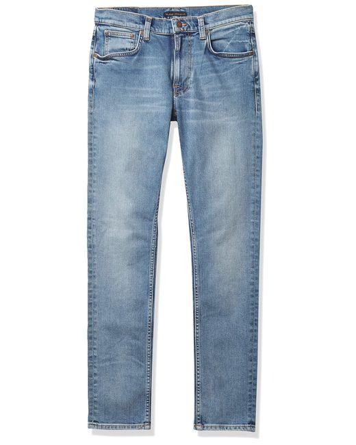 Nudie Jeans Blue Lean Dean Indigo Salt