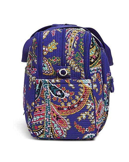 Vera Bradley Signature Cotton Deluxe Weekender Travel Bag