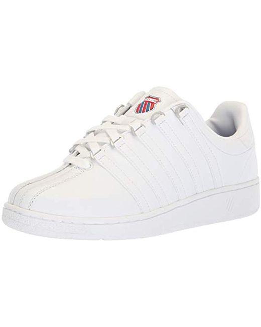 K-swiss White Classic Vn Fashion Sneaker for men
