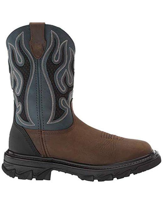 43e67b8dec6 Men's Brown Ranch King Carbonmax Wellington Industrial Shoe