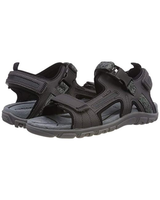 los angeles super quality lace up in Men's Gray Uomo Sandal Strada A Ankle Strap
