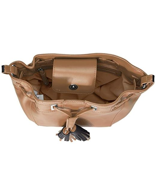 7f1e781339792 ... Nine West - Natural Take A Lift Crossbody Bucket Bag - Lyst ...