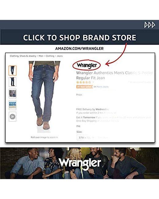 8d485e2ba94 ... Wrangler - Blue Classic Five-pocket Regular Fit Straight Leg Jean for  Men - Lyst