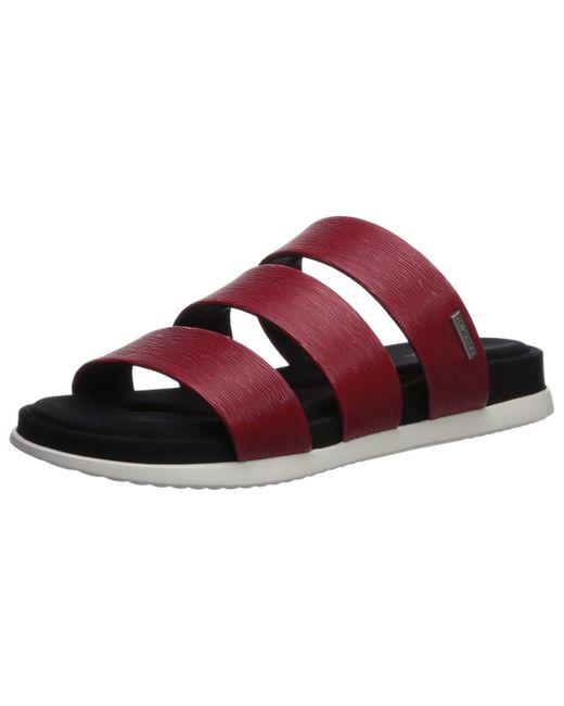Calvin Klein Red Dalana Slide Sandal