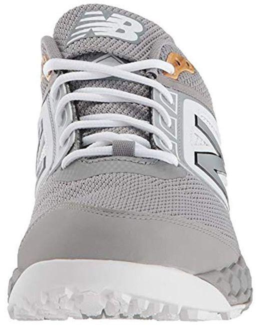 475fc26402b31 New Balance 3000v4 Turf Baseball Shoe in Gray for Men - Save 5% - Lyst