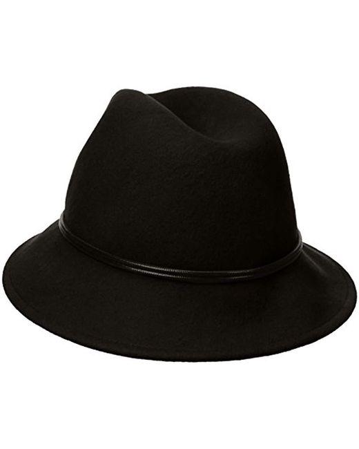 5b3bfa4076bda ... Goorin Bros - Black Sofia Wool Felt Fedora Hat - Lyst