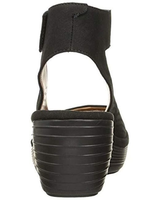 462e15dc85 Lyst - Clarks Reedly Salene Wedge Sandal in Black - Save 32%