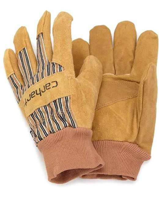 Carhartt - Brown Insulated Suede Work Glove With Knit Cuff for Men - Lyst