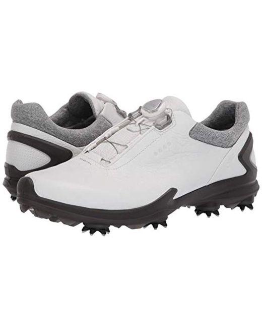 49488b0c5cb6 ... Ecco - White Biom G3 Boa Gore-tex Golf Shoe for Men - Lyst ...