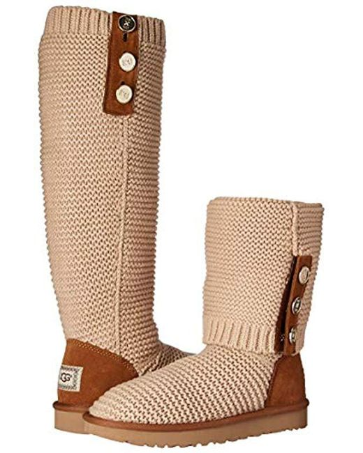 a95fed1af38 Women's Natural W Purl Cardy Knit Fashion Boot