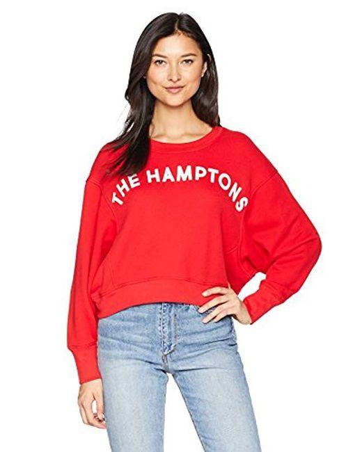 Joie - Red Caleigh B Cotton Graphic Crewneck Sweatshirt - Lyst