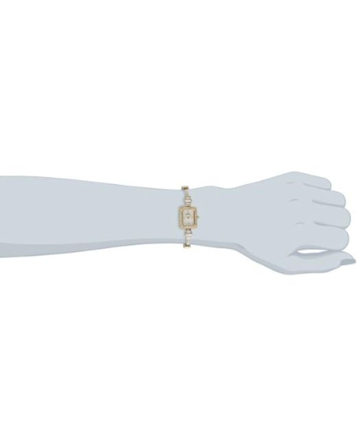 Badgley Mischka - Metallic Ba/1312wmgb Swarovski Crystal-accented Rectangular Gold-tone Thin Bracelet Watch - Lyst