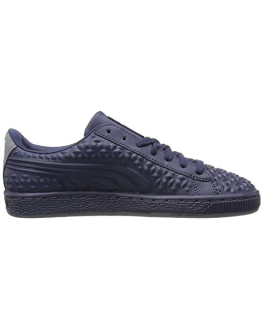 22b44f0007 ... PUMA - Blue Basket Classic Dia Emboss Fashion Sneaker for Men - Lyst ...