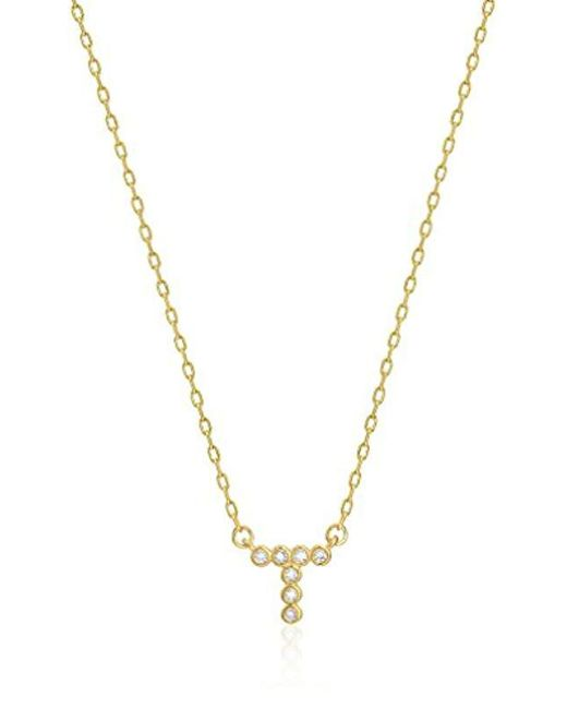Kate Spade - Metallic One In A Million Stone T Pendant Necklace - Lyst