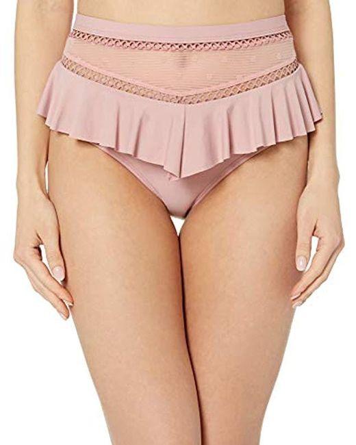 Ella Moss Pink High Waist Swimsuit Bikini Bottom