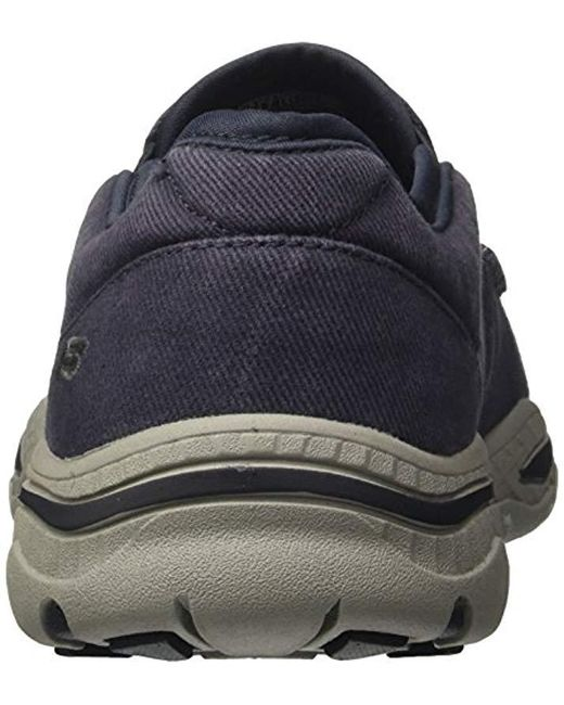 fresh styles new collection best service Skechers Canvas Relaxed Fit-creston-moseco Moccasin in Navy ...