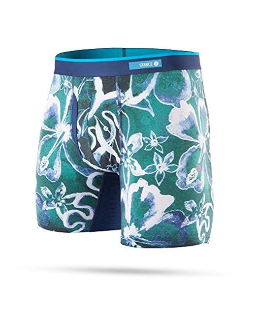 Stance - Green Oxidized Floral Boxer Brief for Men - Lyst