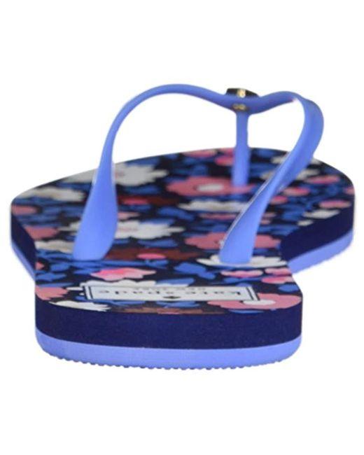ce90606b6 Lyst - Kate Spade Nassau Flip-flop in Blue - Save 44%
