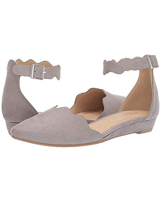 CL By Chinese Laundry Gray Studio Pointed Toe Two Piece Flat