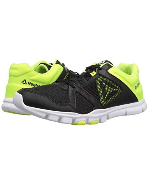 cc651b77064fc Men's Yourflex Train 10 Cross Sneaker, Black/solar Yellow/white, 8.5 M Us
