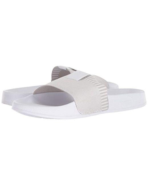 ... PUMA - White Leadcat Knit Slide Sandal for Men - Lyst ... 1b6f172bf