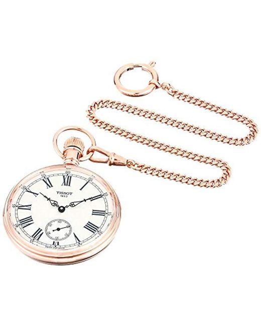 Tissot Metallic Unisex Lepine Mechanical Brass Pocket Watch (model: T8614059903301)