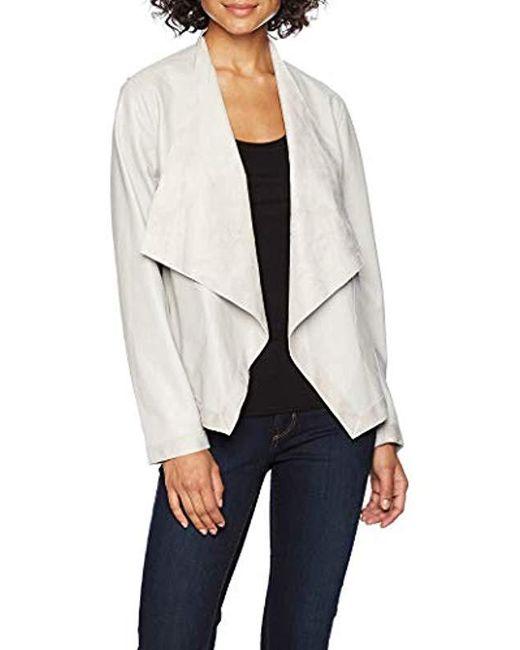 59d5daf45 Lyst - BB Dakota Teagan Reversible Drape Front Jacket in White