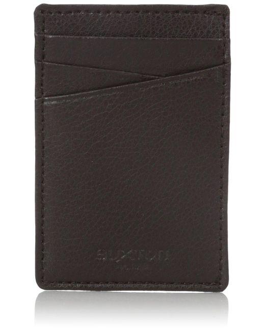 Buxton Mens Walton Leather RFID Blocking Battery Wallet