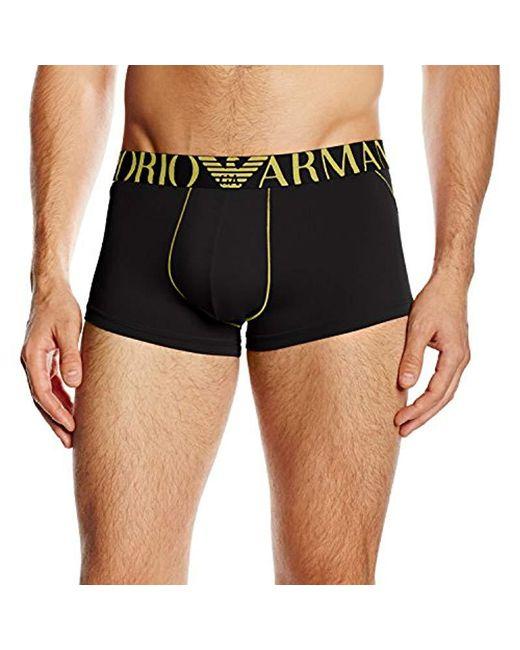 Emporio Armani - Black Brushed Microfiber Trunk for Men - Lyst