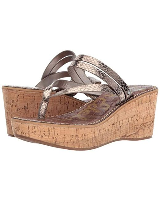 bf4d504fa995 Lyst - Sam Edelman Rasha Wedge Sandal in Metallic - Save 10%