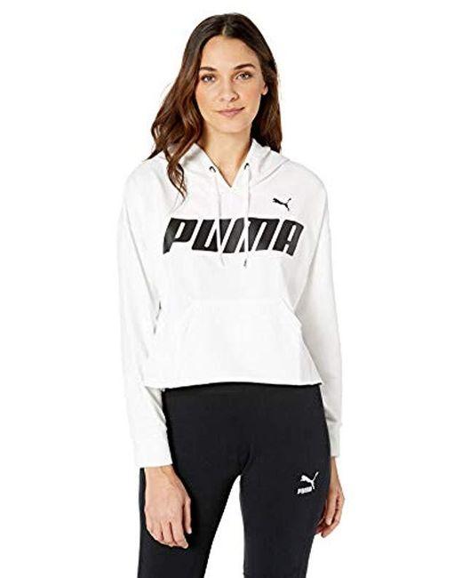 PUMA White Modern Sports Hoody