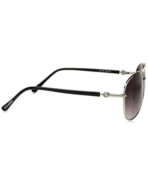 e9ba9f1b9 ... Steve Madden - Black Elissa Aviator S5187 Aviator Sunglasses - Lyst ...