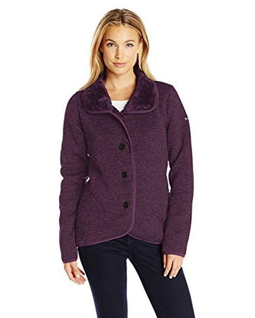 Columbia - Purple Darling Days Bonded Fleece Jacket - Lyst