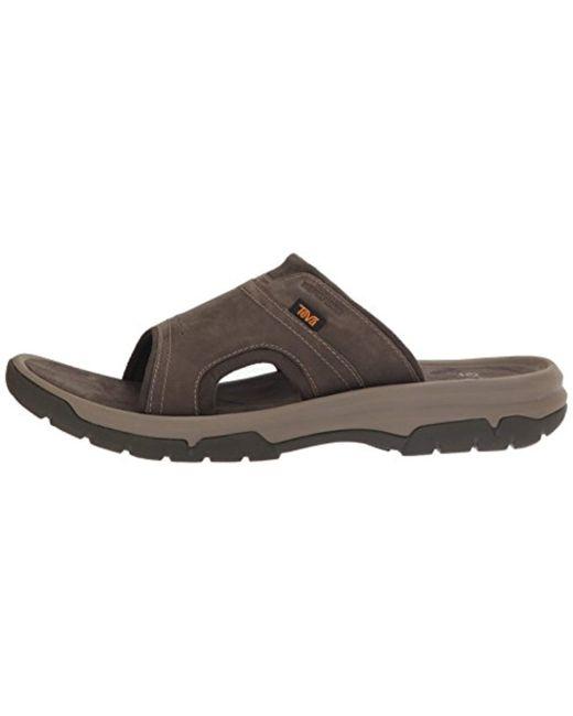 92c103d92dec ... Teva - Brown M Langdon Slide Sandal for Men - Lyst ...