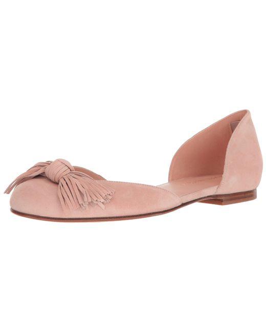 Stuart Weitzman Pink Pompei Ballet Flat