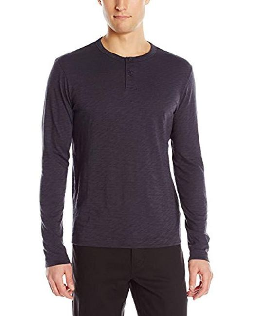 Theory - Multicolor Gaskell Hl Nebulous Long-sleeve Henley Shirt for Men - Lyst