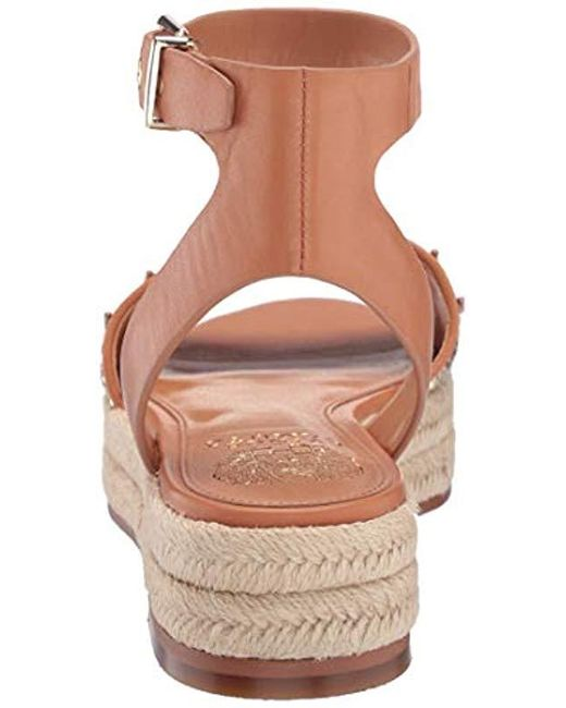8e6b26e5243 ... Vince Camuto - Metallic Kathalia Espadrille Wedge Sandal Gold 5.5  Medium Us - Lyst ...