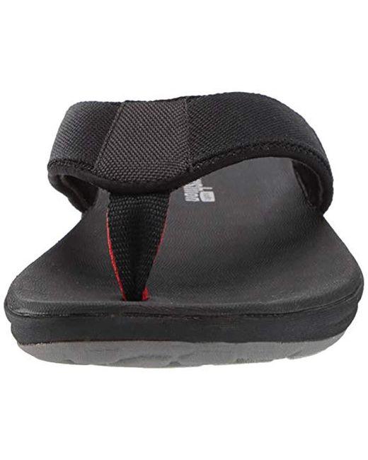 415bf63b09804 Men's Black Step Beat Dune Flip-flop