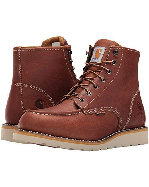 06a1dd76ac3 Men's Brown 6-inch Tan Waterproof Wedge Boot