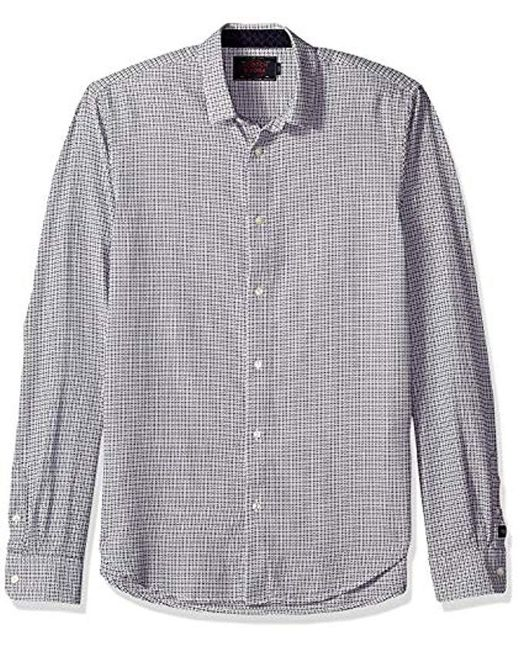 Scotch & Soda Multicolor Slim Fit Classic Shirt In Structured Weave Button for men