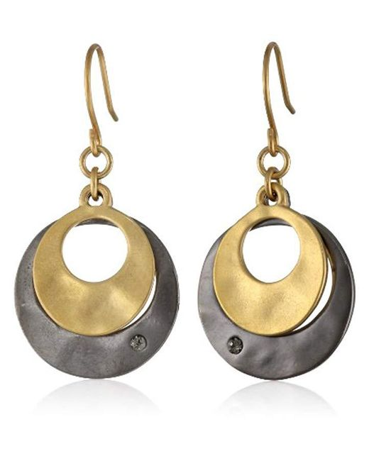 Kenneth Cole - Metallic Two-tone Layered Earrings - Lyst