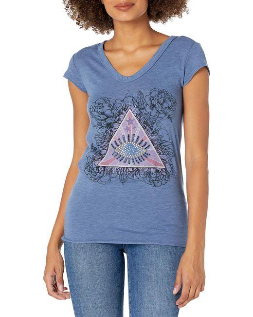 William Rast Blue Willliam Rast-viva Graphic Tee Shirt