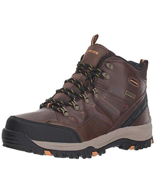 Skechers Black Relment-traven Hiking Boot for men