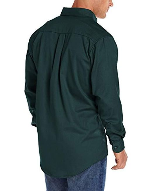 35d65601cdaf ... Wrangler - Green RIGGS Workwear  s Fr Flame Resistant Long Sleeve Two  Pocket Work Shirt ...