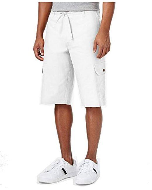 Sean John - White Linen Short for Men - Lyst
