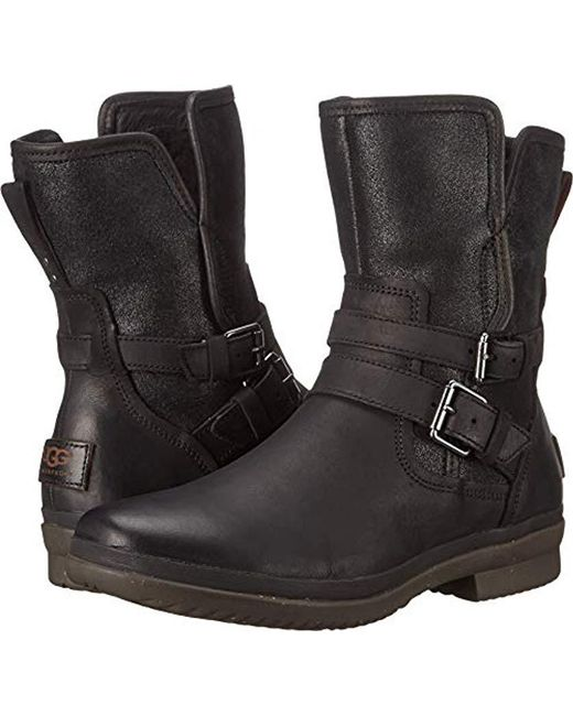 Ugg Black Simmens Leather Boot.