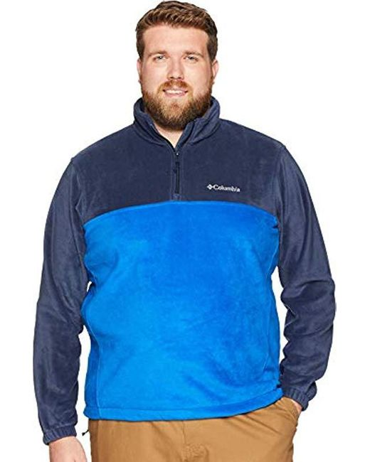 Columbia Blue Big And Tall Steens Mountain Big & Tall Half Zip for men