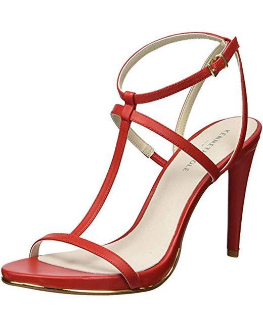 Kenneth Cole - Red Bellamy Strappy Stilleto Sandal Heeled - Lyst