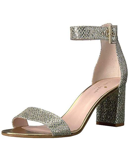 Kate Spade - Metallic Antonella Too Heeled Sandal - Lyst
